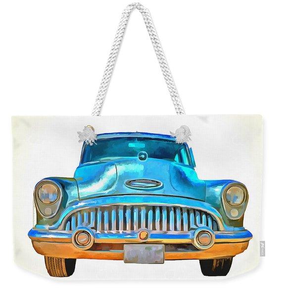 1953 Buick Roadmaster Pop Art Weekender Tote Bag