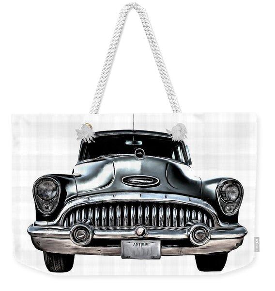 1953 Buick Roadmaster Silver Weekender Tote Bag