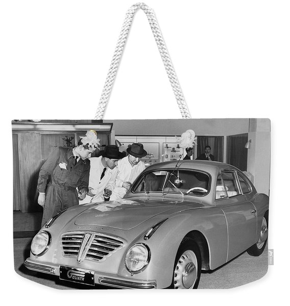 1953 Goliath Sports Coupe Weekender Tote Bag