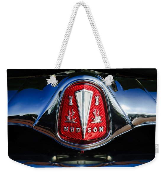1953 Hudson Hornet Sedan Emblem Weekender Tote Bag