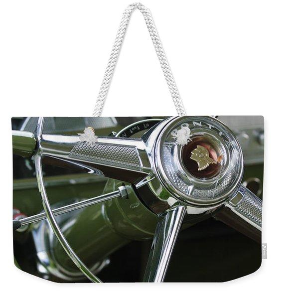 1953 Pontiac Steering Wheel Weekender Tote Bag
