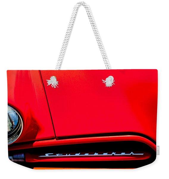 1953 Studebaker Coupe Grille Emblem Weekender Tote Bag