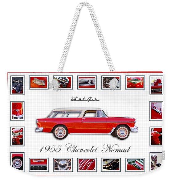 1955 Chevrolet Belair Nomad Art Weekender Tote Bag