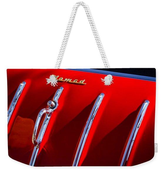 1955 Chevrolet Belair Nomad Hood Ornament -559c Weekender Tote Bag
