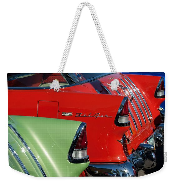 1955 Chevrolet Belair Nomad Taillights Weekender Tote Bag