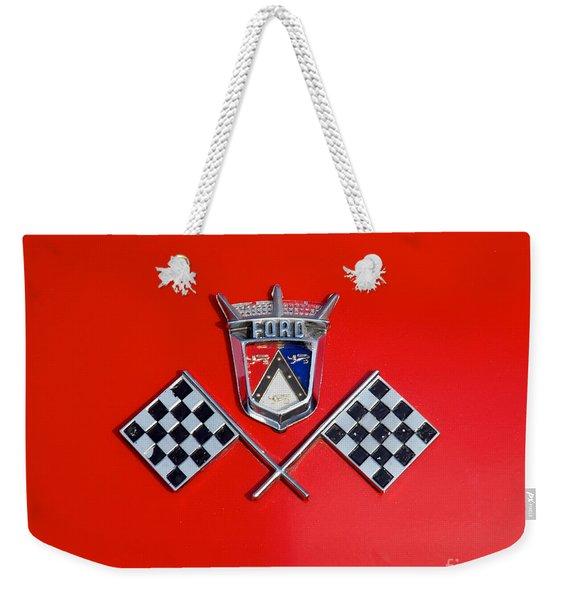 1955 Ford T-bird Logo Weekender Tote Bag
