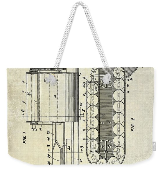 1955 Rocket Launcher Patent Drawing Weekender Tote Bag