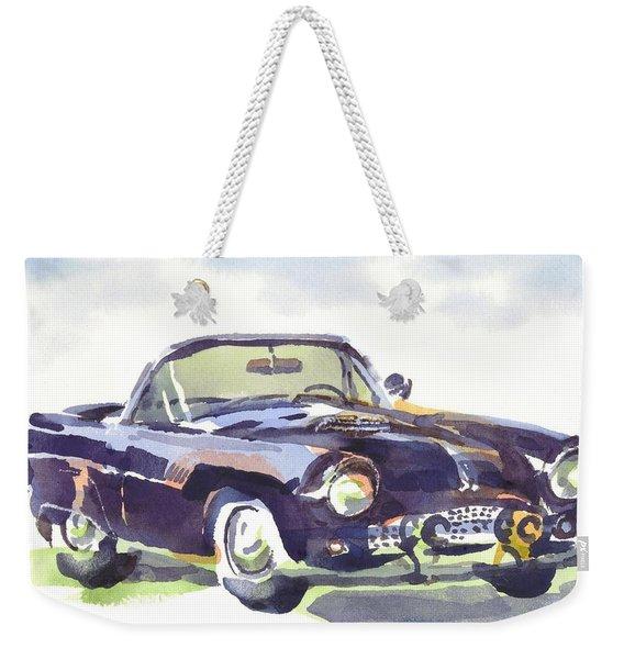 1955 Thunderbird Weekender Tote Bag