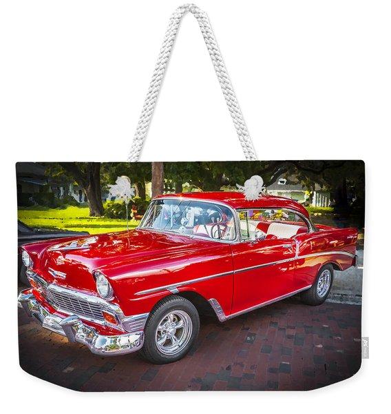 1956 Chevrolet 210 Bel Air Weekender Tote Bag