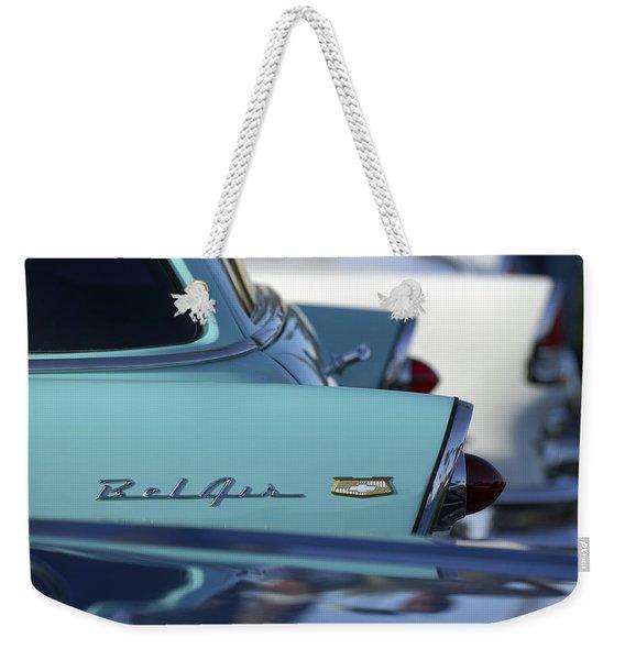 1956 Chevrolet Belair Nomad Rear End Weekender Tote Bag