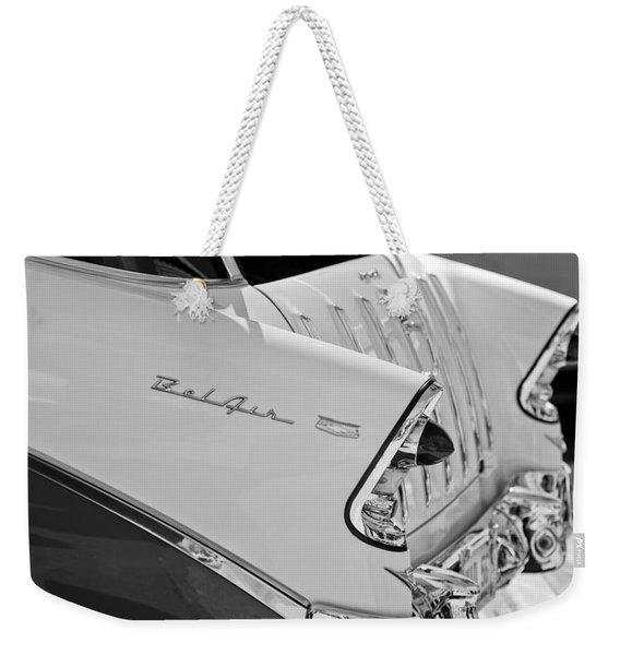 1956 Chevrolet Belair Nomad Rear End Taillights Weekender Tote Bag