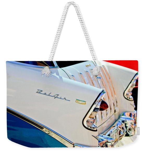 1956 Chevrolet Belair Nomad Taillights Weekender Tote Bag