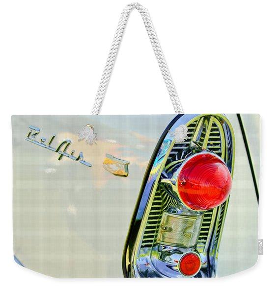 1956 Chevrolet Beliar Nomad Taillight Emblem Weekender Tote Bag