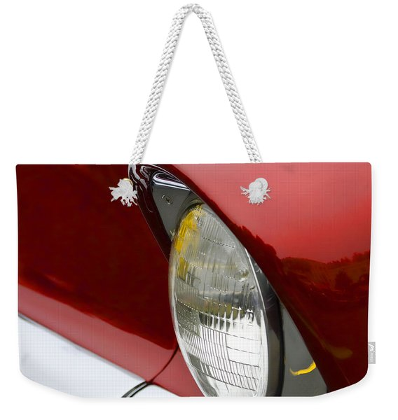 1956 Chevrolet Headlamp Square Weekender Tote Bag