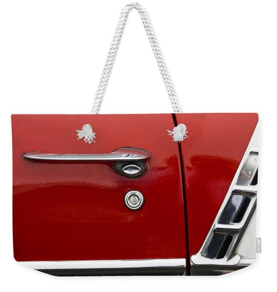 1956 Chevy Door Detail Weekender Tote Bag
