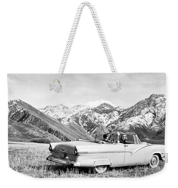 1956 Ford Fairlane Convertible Weekender Tote Bag