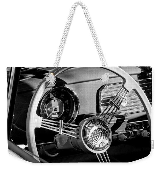 1956 Volkswagen Vw Bug Steering Wheel Emblem Weekender Tote Bag