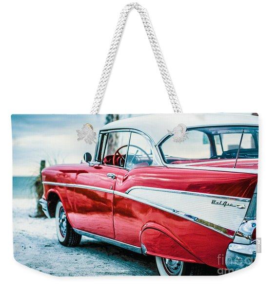 1957 Chevy Bel Air Weekender Tote Bag