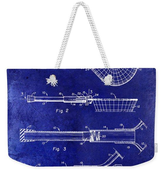 1957 Landing Net Patent Drawing Blue Weekender Tote Bag