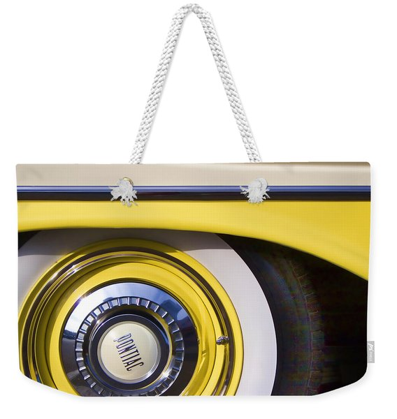 1957 Pontiac Starchief Wheel Cover Weekender Tote Bag