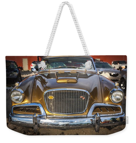 1957 Studebaker Golden Hawk  Weekender Tote Bag