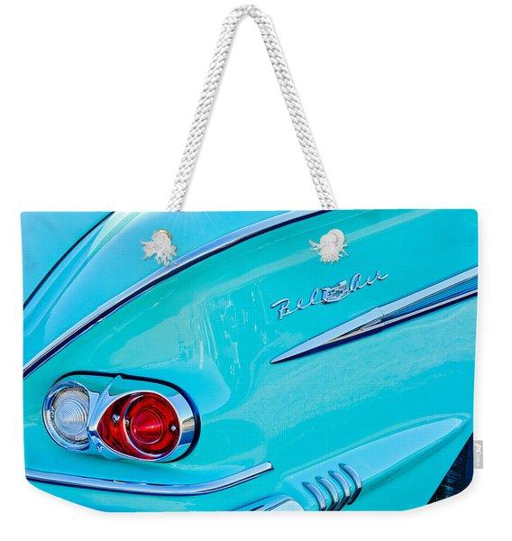 1958 Chevrolet Belair Taillight 2 Weekender Tote Bag