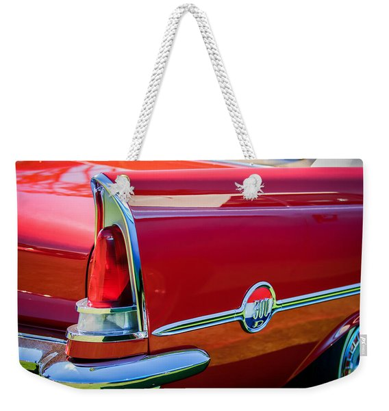 1958 Chrysler 300d Convertible Taillight Emblem -2972c Weekender Tote Bag
