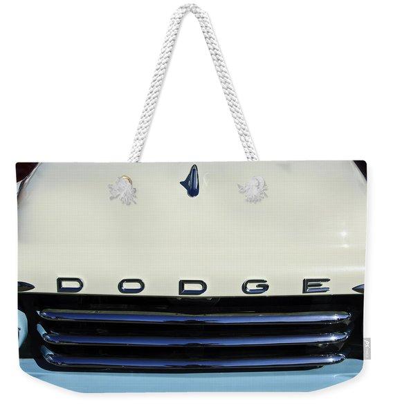 1958 Dodge Sweptside Truck Grille Weekender Tote Bag