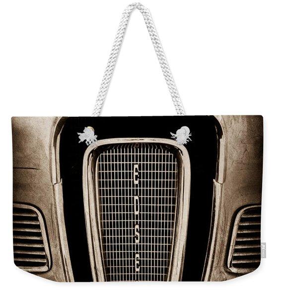 1958 Edsel Pacer Grille Emblem - Hood Ornament Weekender Tote Bag