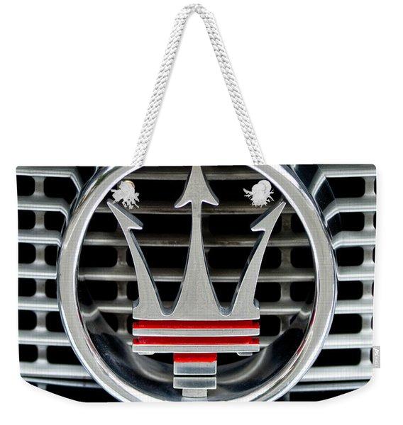 1958 Maserati Hood - Grille Emblem -0606c45 Weekender Tote Bag