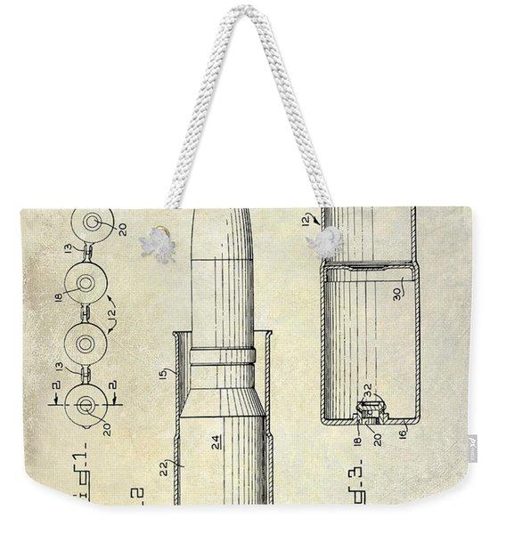 1959 Cartidge Ram Link Patent Drawing Weekender Tote Bag