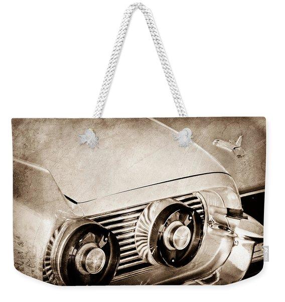 1959 Ford Thunderbird 2 Door Hardtop Taillight Emblem Weekender Tote Bag