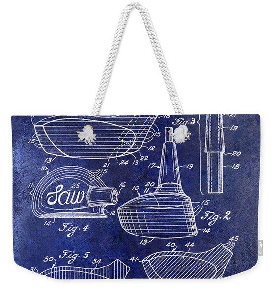 1959 Golf Club Patent Drawing Blue Weekender Tote Bag