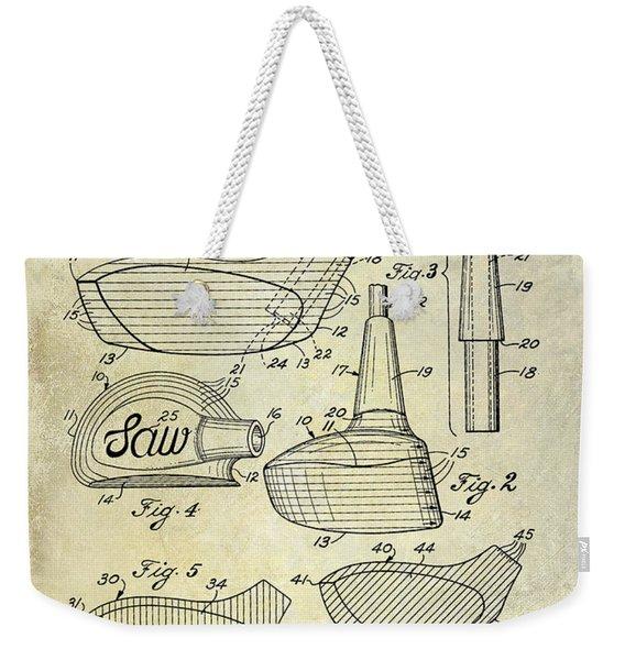 1959 Golf Club Patent Drawing Weekender Tote Bag
