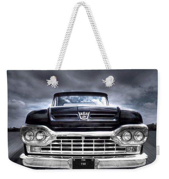 1960 Ford F100 Pick Up Head On Weekender Tote Bag