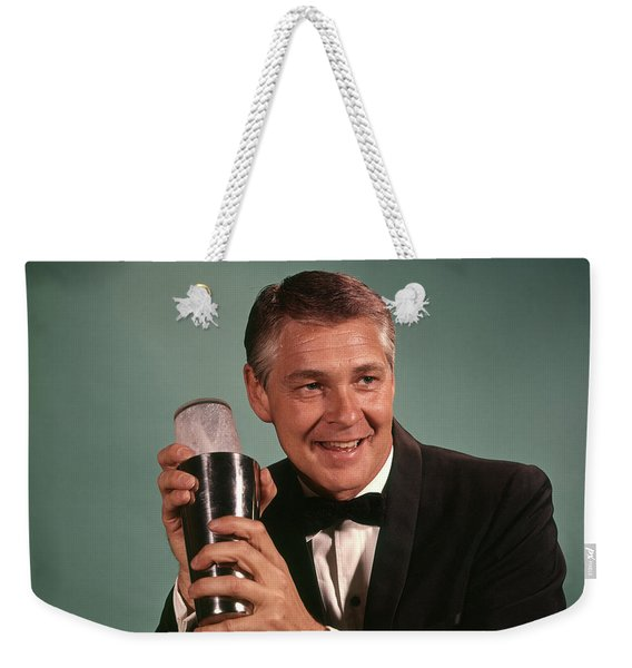 1960s 1970s Bartender Smiling Man Weekender Tote Bag