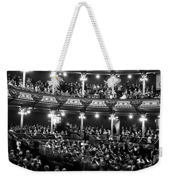 1960s Audience In Seats And Balconies Weekender Tote Bag
