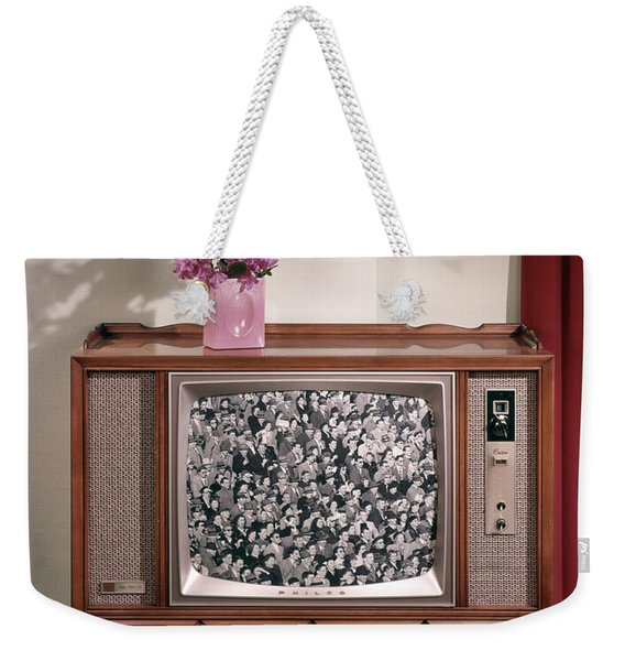 1960s Large Console Television Weekender Tote Bag