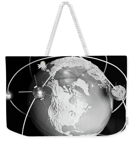1960s Model Of Earth With Three Weekender Tote Bag