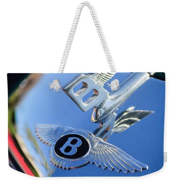 1961 Bentley S2 Continental Hood Ornament - Emblem Weekender Tote Bag