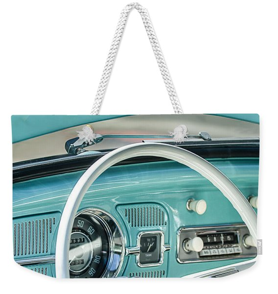 1962 Volkswagen Vw Beetle Cabriolet Steering Wheel Weekender Tote Bag