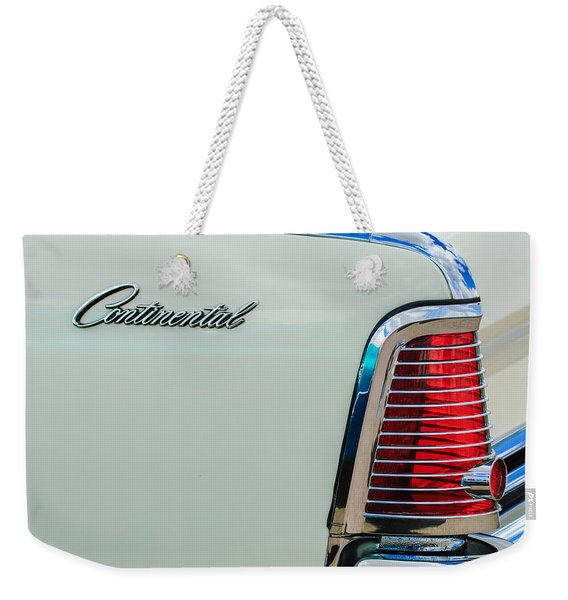 1963 Lincoln Continental Taillight Emblem -0905bw Weekender Tote Bag