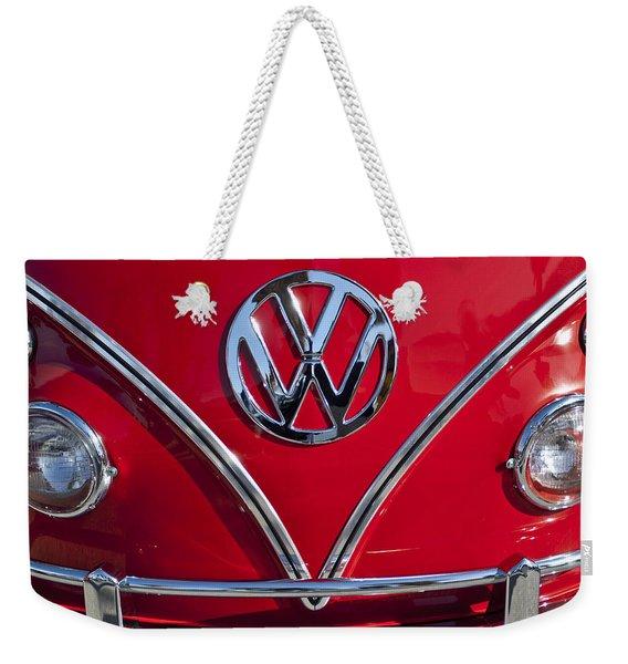 1964 Volkswagen Vw Double Cab Emblem Weekender Tote Bag