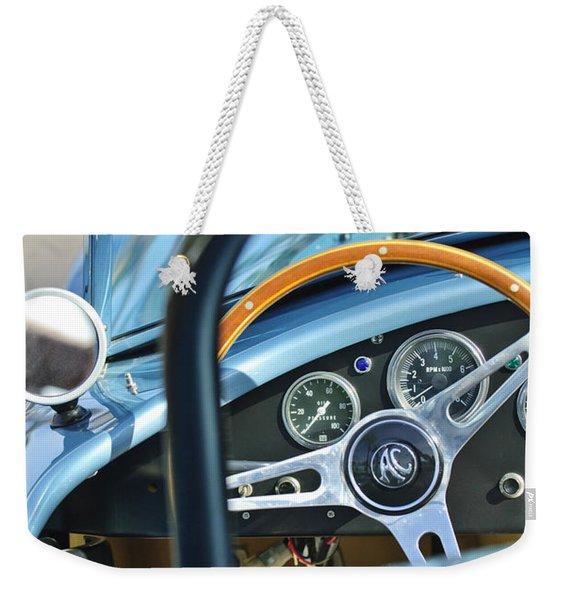 1965 Ac Cobra Steering Wheel 4 Weekender Tote Bag