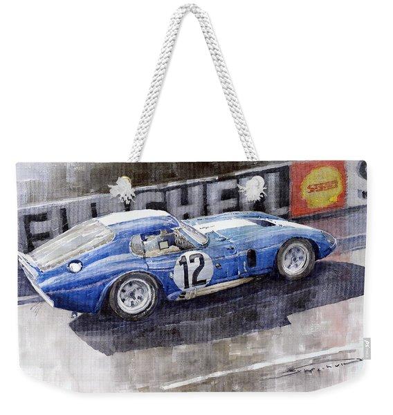 1965 Le Mans  Daytona Cobra Coupe  Weekender Tote Bag