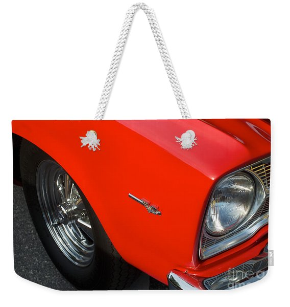 1965 Plymouth Belvedere Weekender Tote Bag