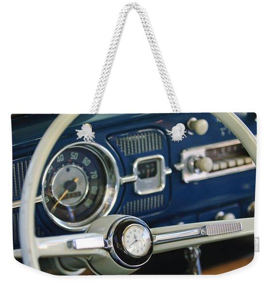 1965 Volkswagen Vw Beetle Steering Wheel Weekender Tote Bag