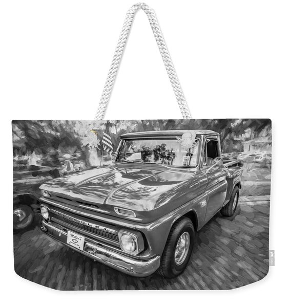 1966 Chevy C10 Pick Up Truck Painted Bw Weekender Tote Bag