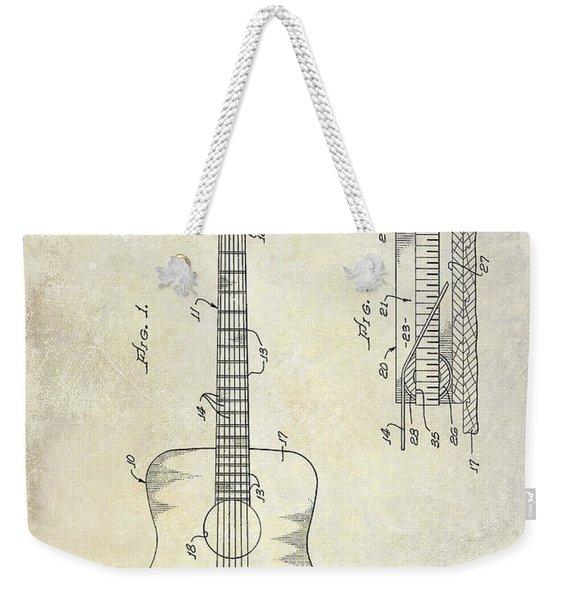 1966 Fender Acoustic Guitar Patent Weekender Tote Bag