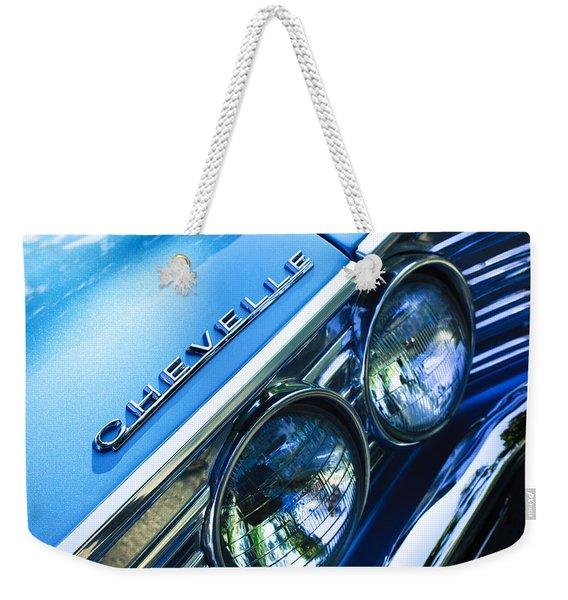 1967 Chevrolet Chevelle Malibu Head Light Emblem Weekender Tote Bag